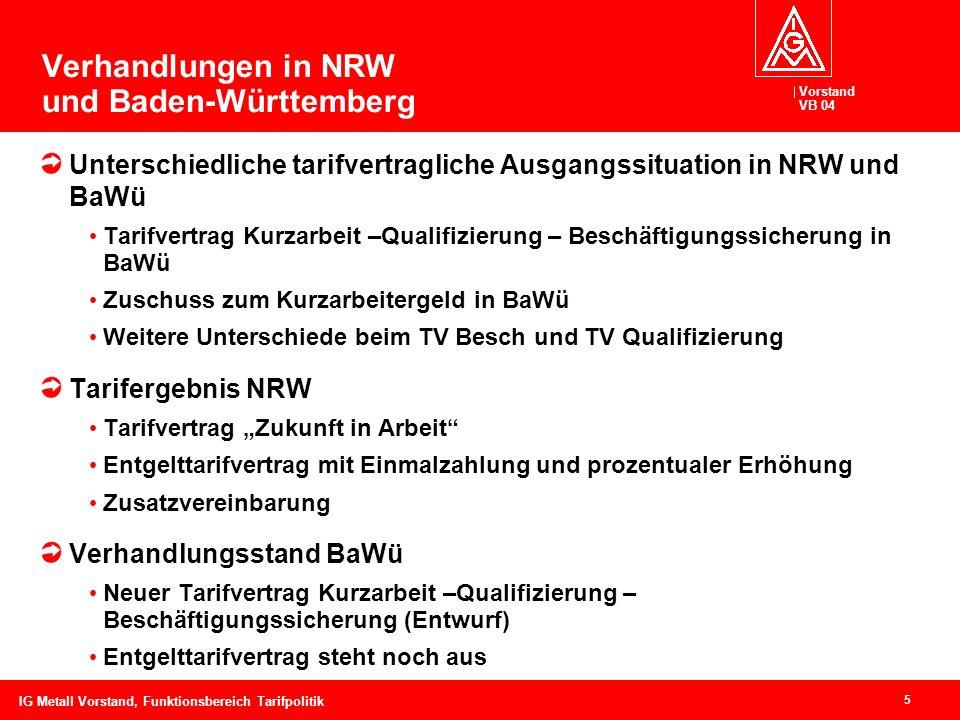 Verhandlungen in NRW und Baden-Württemberg