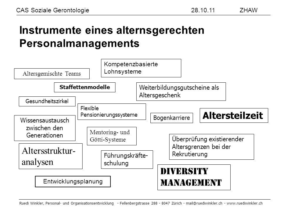 Instrumente eines alternsgerechten Personalmanagements