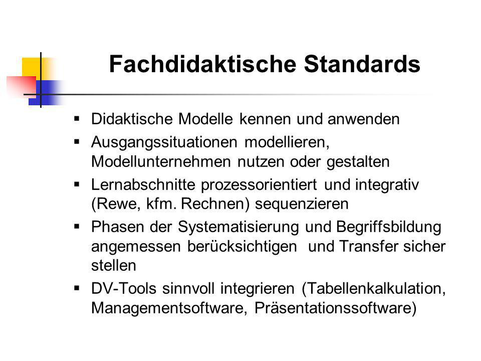 Fachdidaktische Standards