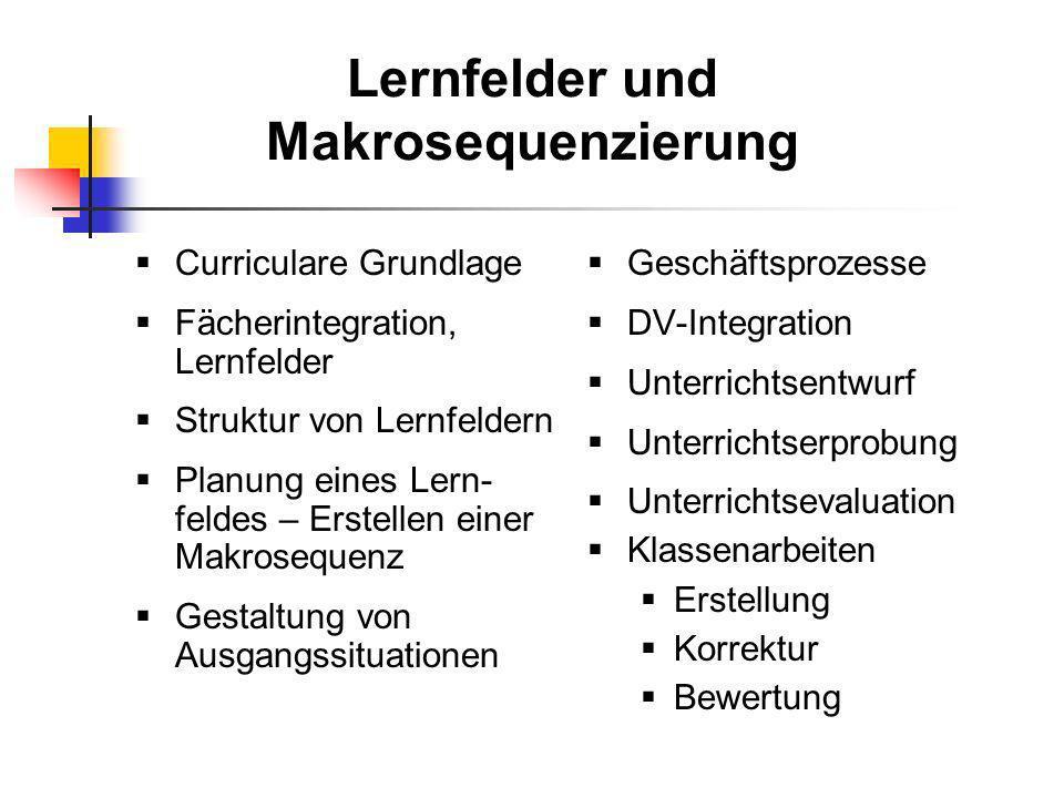Lernfelder und Makrosequenzierung