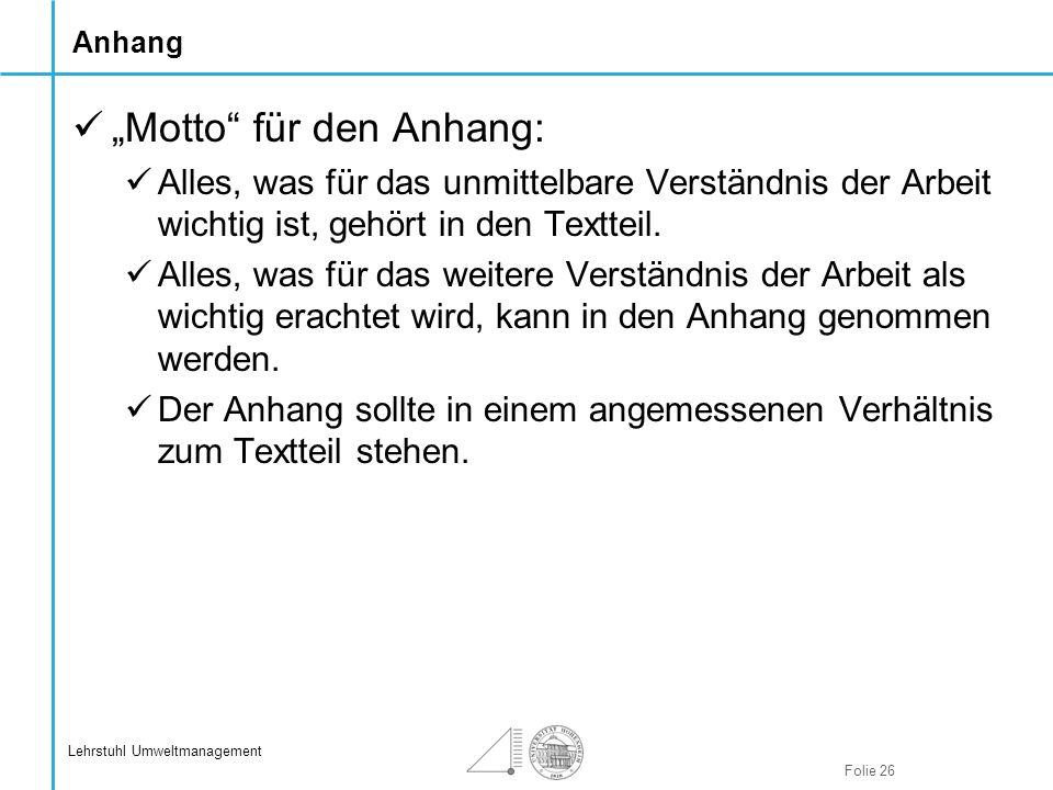 """""""Motto für den Anhang:"""