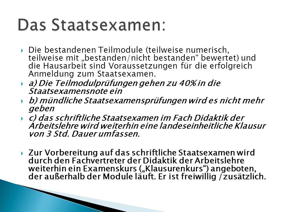Das Staatsexamen: