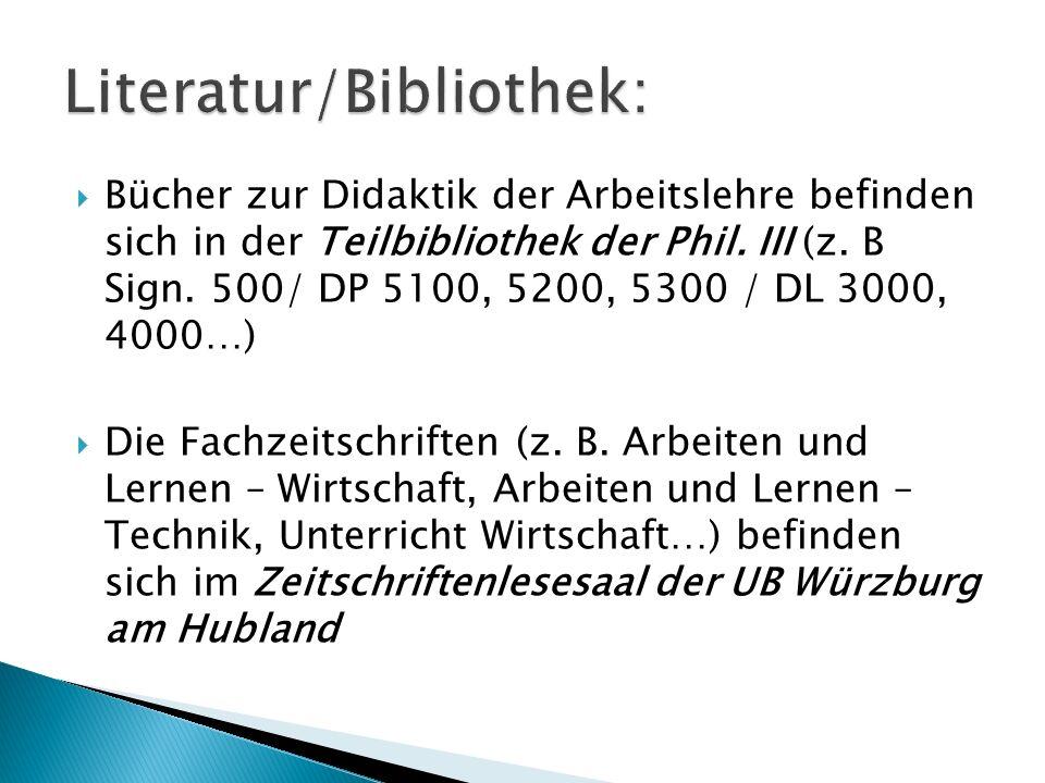 Literatur/Bibliothek: