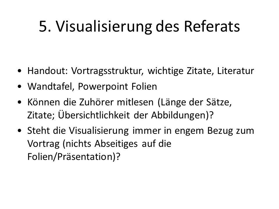5. Visualisierung des Referats