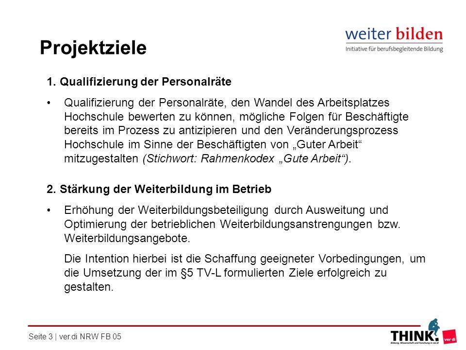 Projektziele 1. Qualifizierung der Personalräte