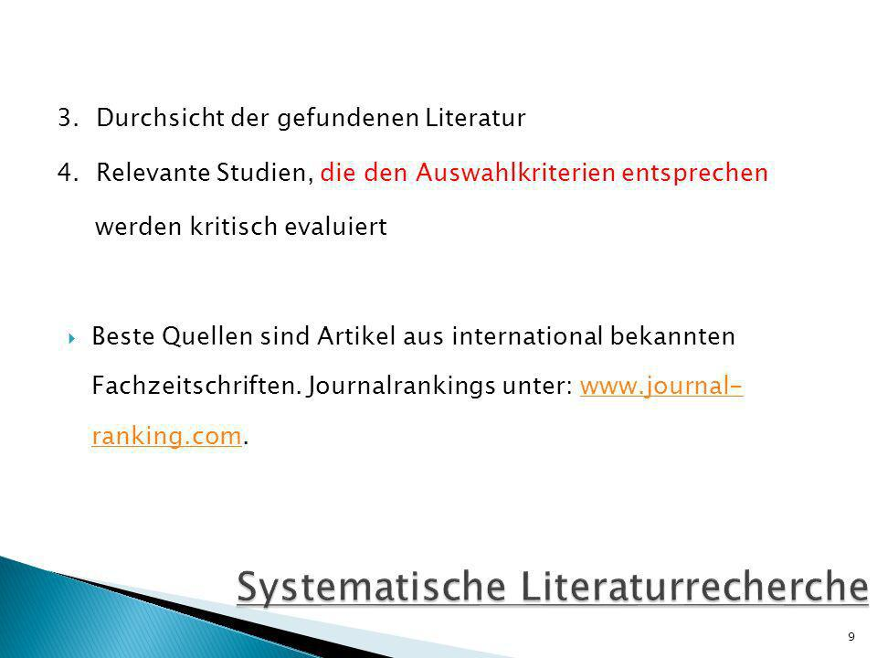 Systematische Literaturrecherche