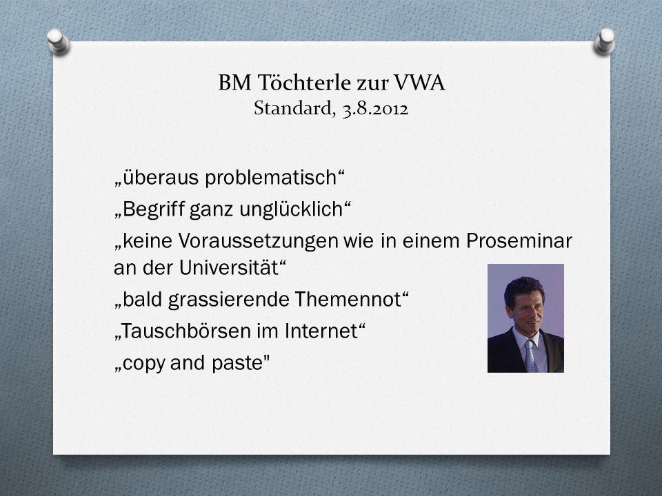BM Töchterle zur VWA Standard, 3.8.2012