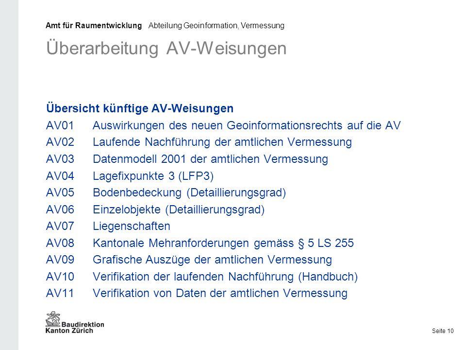 Überarbeitung AV-Weisungen