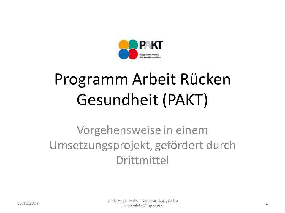 Programm Arbeit Rücken Gesundheit (PAKT)