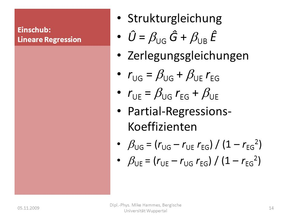 Einschub: Lineare Regression