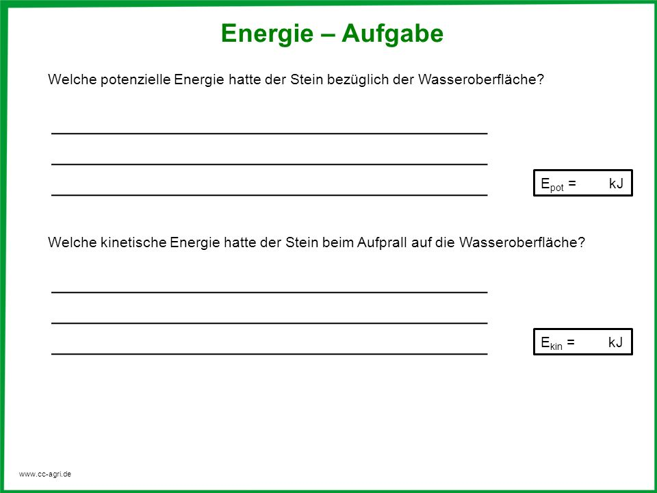 Tolle Gravitationspotential Energie Arbeitsblatt Fotos - Mathe ...