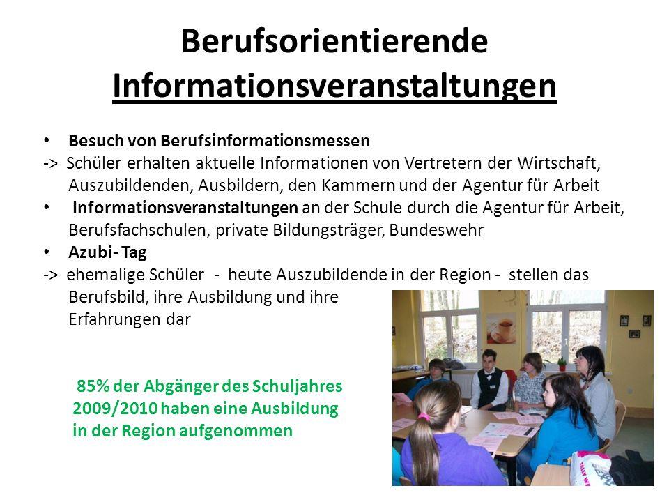 Berufsorientierende Informationsveranstaltungen