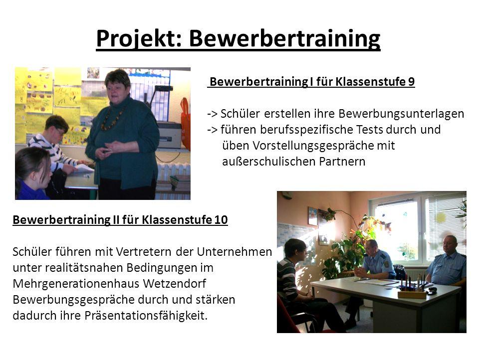 Projekt: Bewerbertraining
