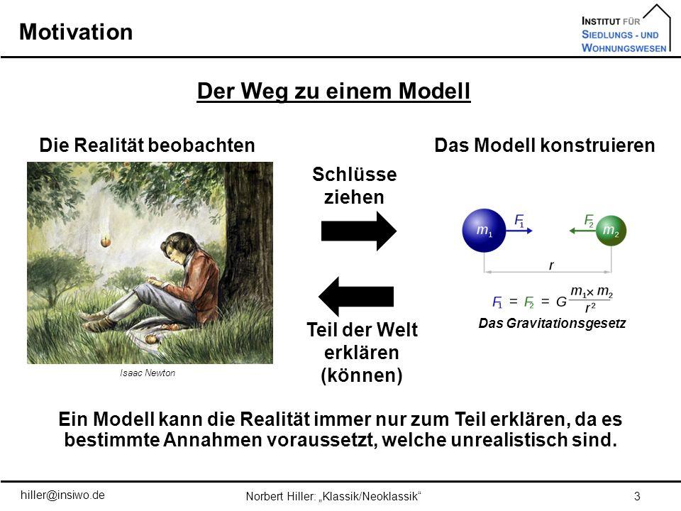 Motivation Der Weg zu einem Modell Das Modell konstruieren