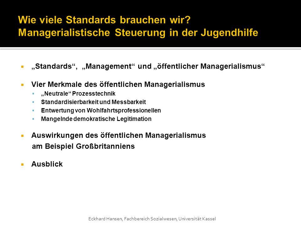 Wie viele Standards brauchen wir