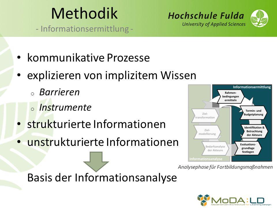 Methodik - Informationsermittlung -