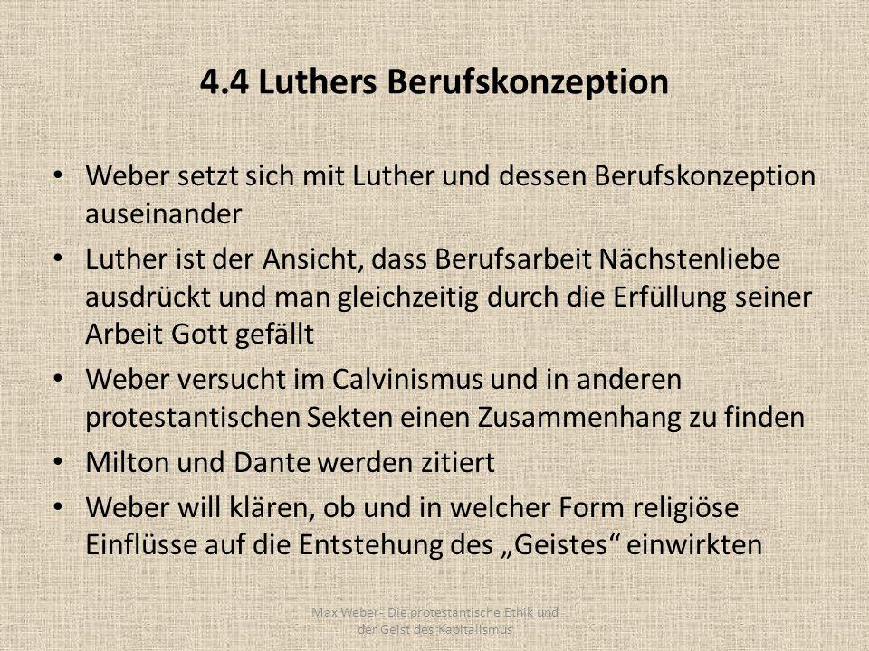 4.4 Luthers Berufskonzeption