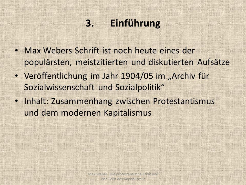 Max Weber- Die protestantische Ethik und der Geist des Kapitalismus