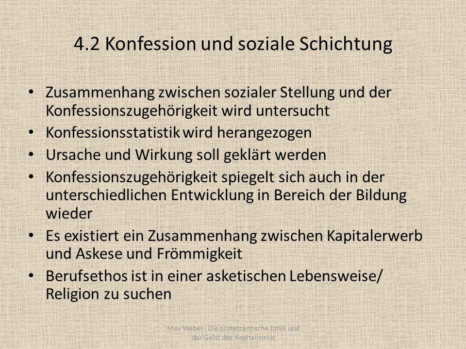 4.2 Konfession und soziale Schichtung