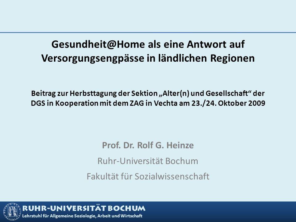 Ruhr-Universität Bochum Fakultät für Sozialwissenschaft