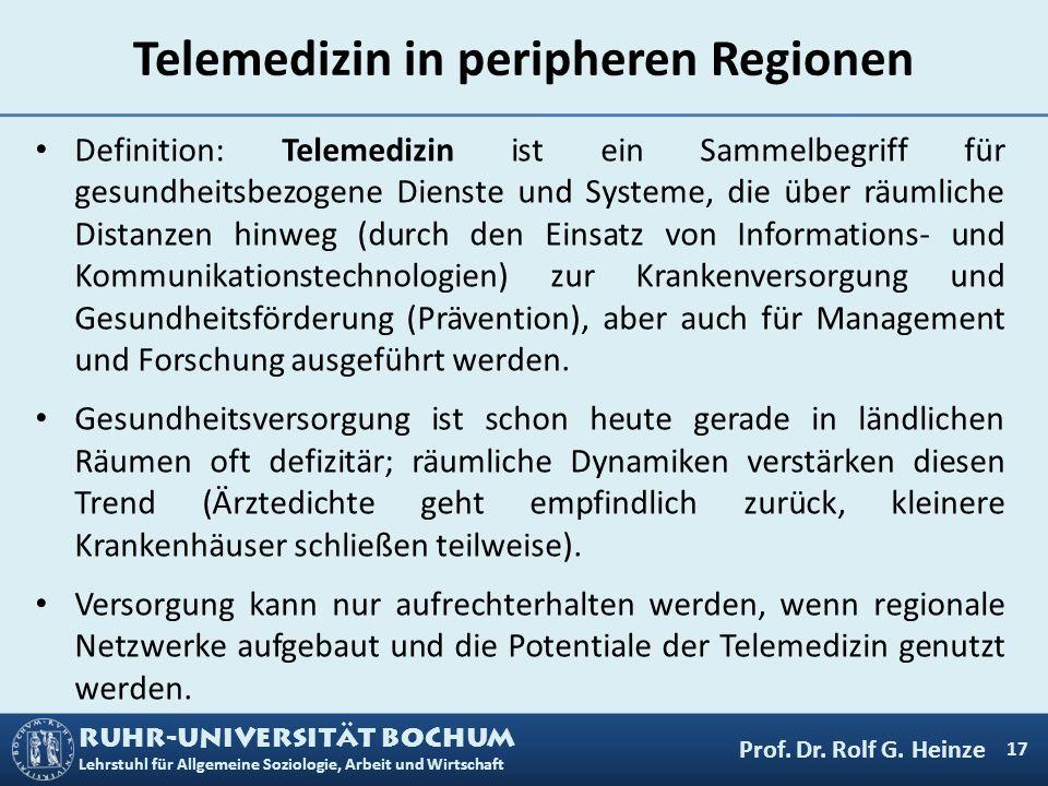 Telemedizin in peripheren Regionen