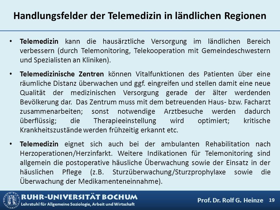 Handlungsfelder der Telemedizin in ländlichen Regionen