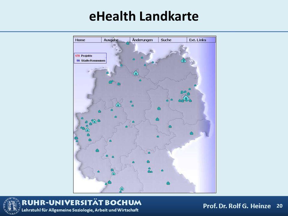 eHealth Landkarte Prof. Dr. Rolf G. Heinze