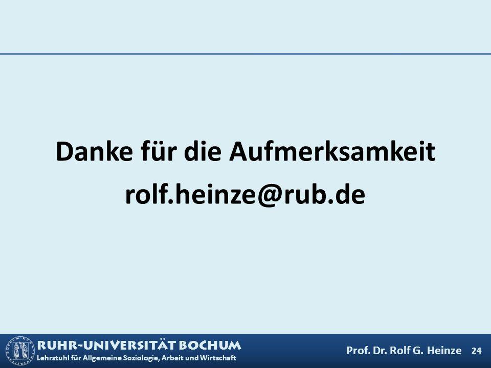Danke für die Aufmerksamkeit rolf.heinze@rub.de