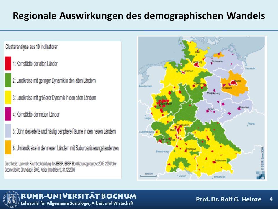 Regionale Auswirkungen des demographischen Wandels
