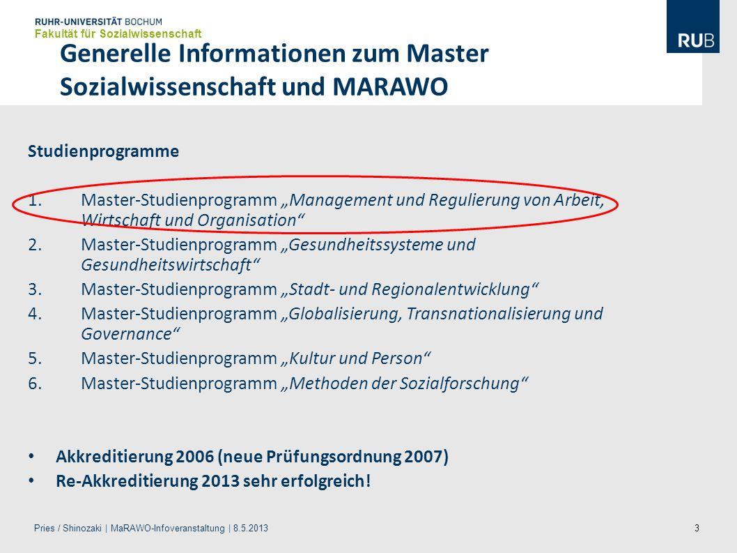 Generelle Informationen zum Master Sozialwissenschaft und MARAWO
