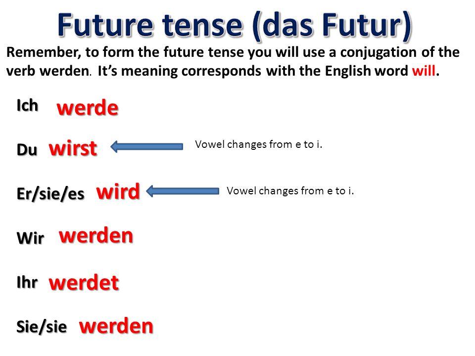 Future tense (das Futur)