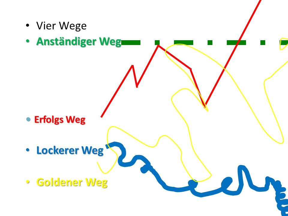 Vier Wege Anständiger Weg Erfolgs Weg Lockerer Weg Goldener Weg