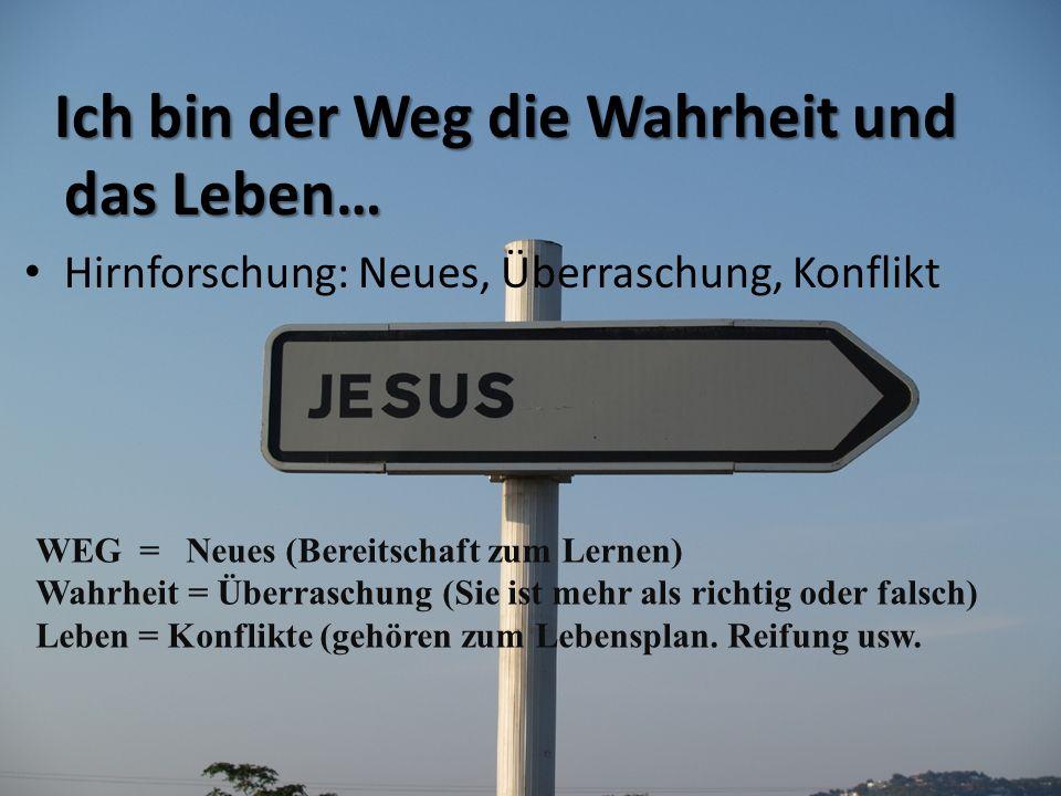 Ich bin der Weg die Wahrheit und das Leben…