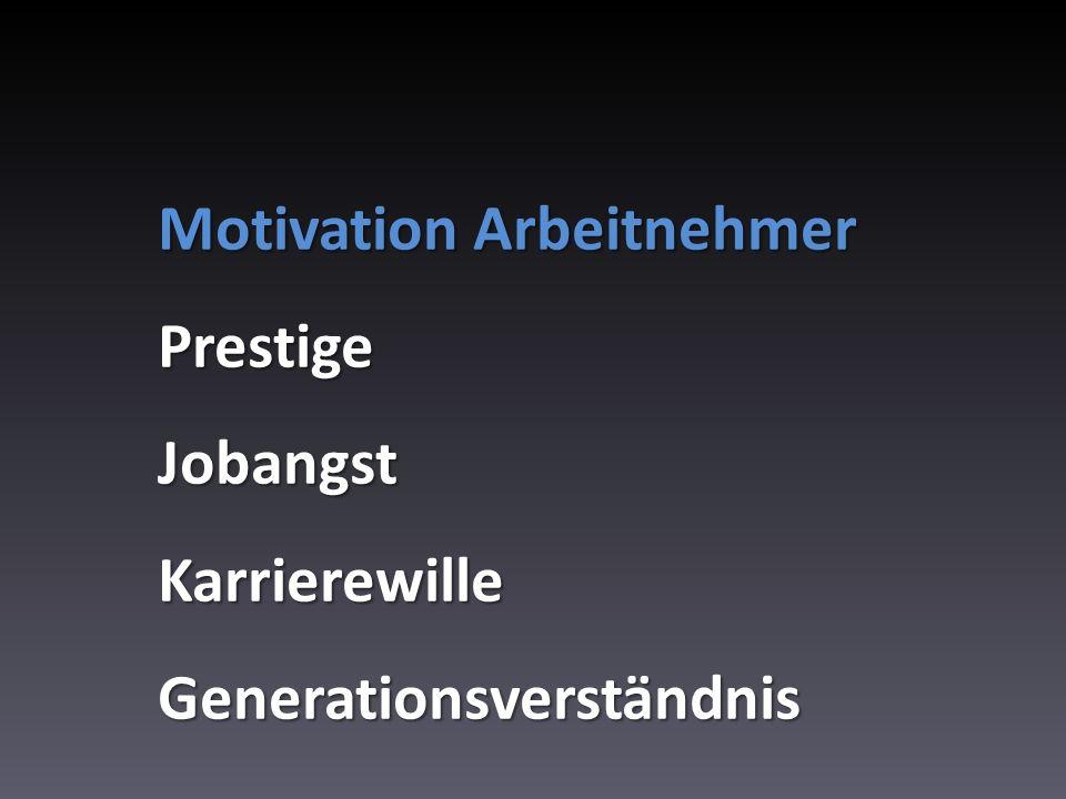 Motivation Arbeitnehmer
