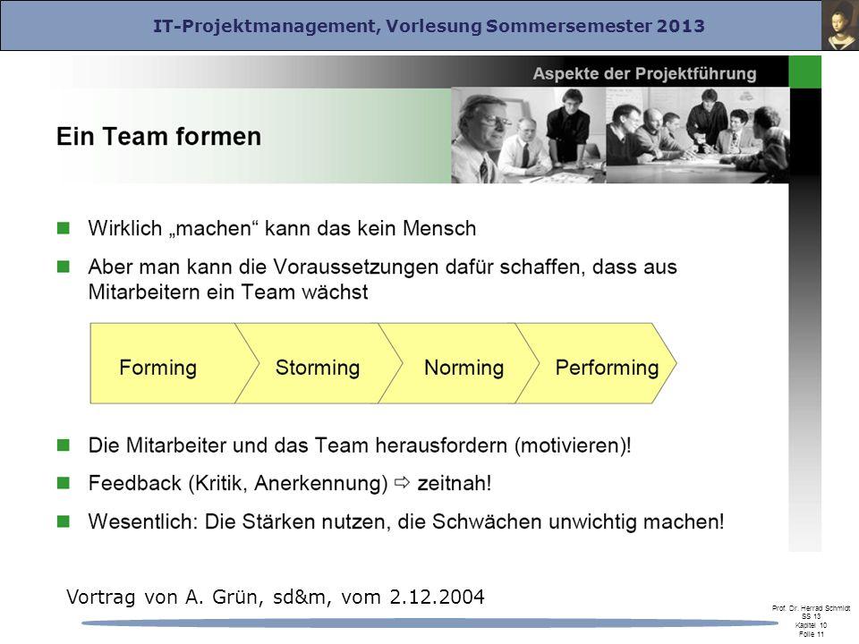 Vortrag von A. Grün, sd&m, vom 2.12.2004