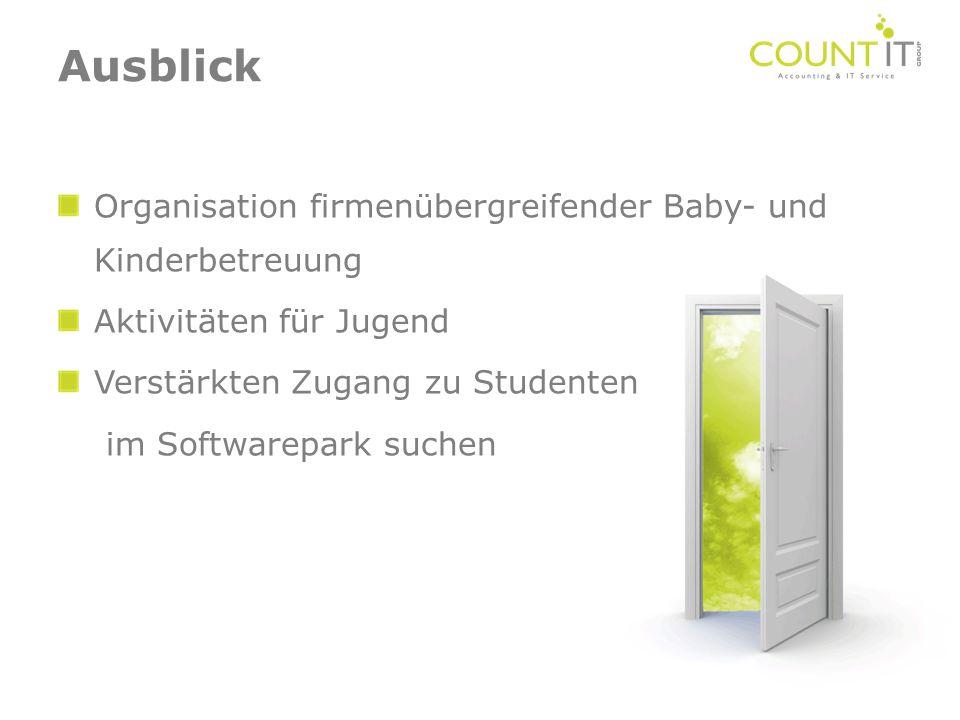 Ausblick Organisation firmenübergreifender Baby- und Kinderbetreuung