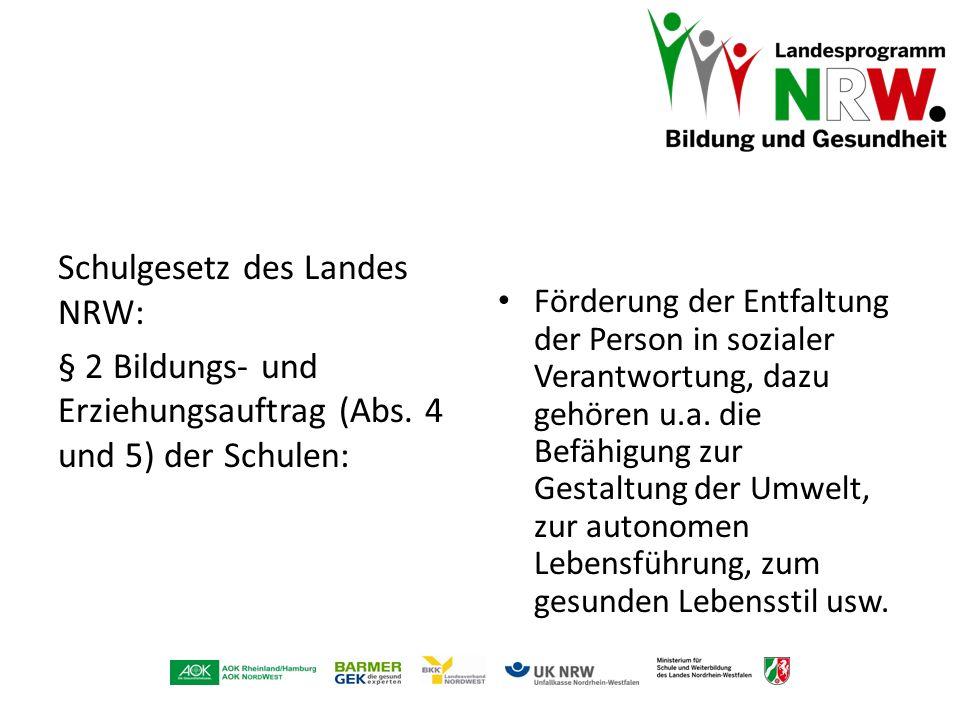 Schulgesetz des Landes NRW: § 2 Bildungs- und Erziehungsauftrag (Abs