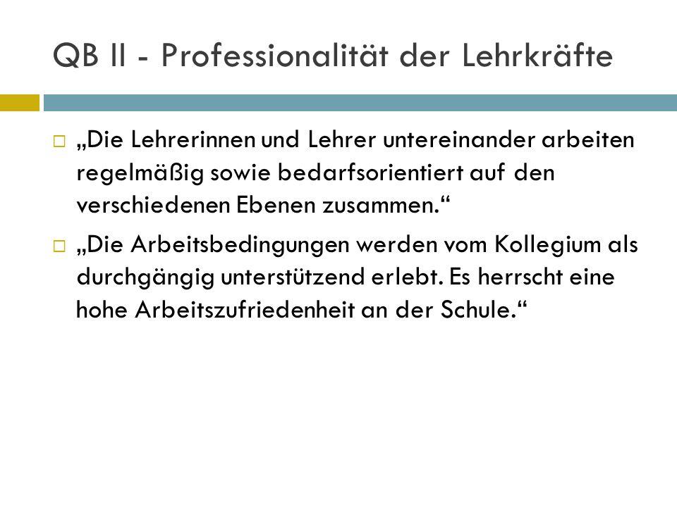 QB II - Professionalität der Lehrkräfte