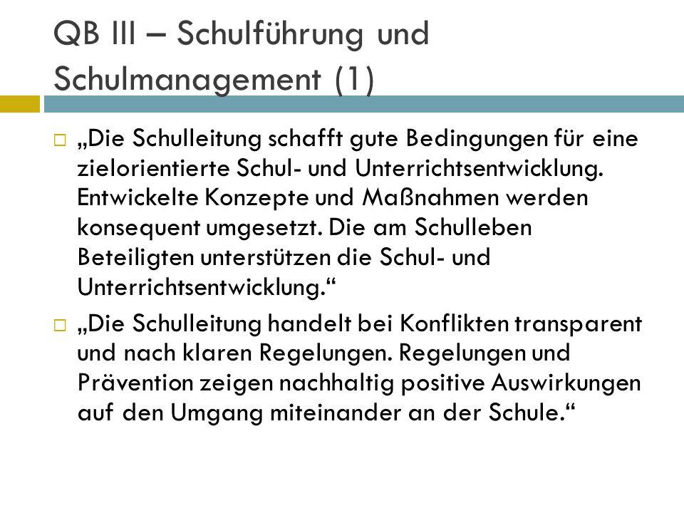 QB III – Schulführung und Schulmanagement (1)