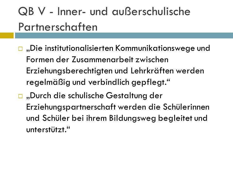 QB V - Inner- und außerschulische Partnerschaften