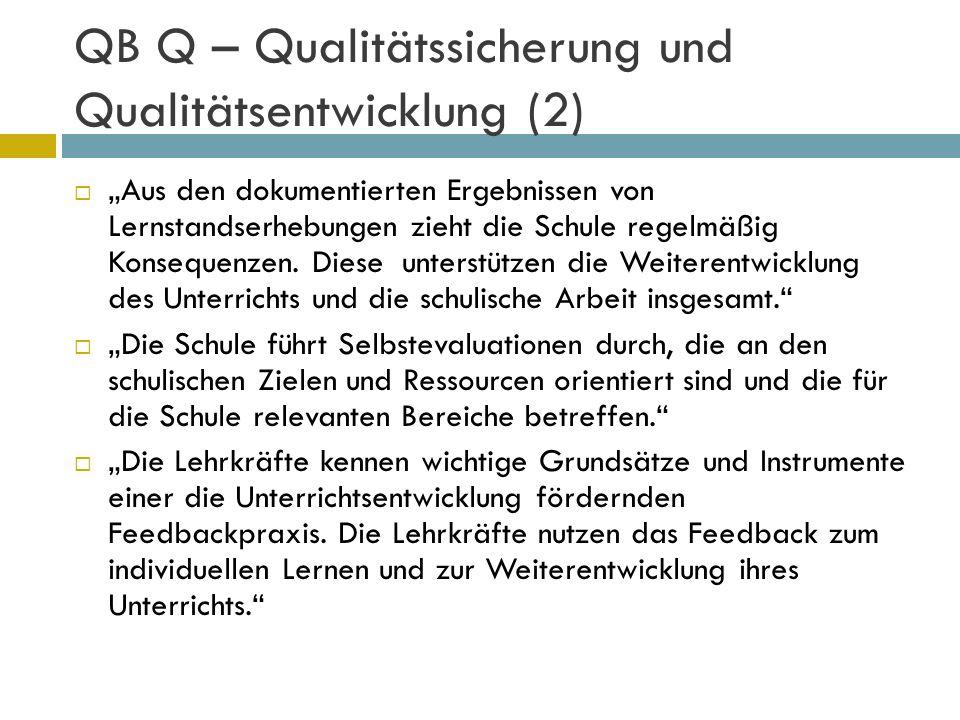 QB Q – Qualitätssicherung und Qualitätsentwicklung (2)