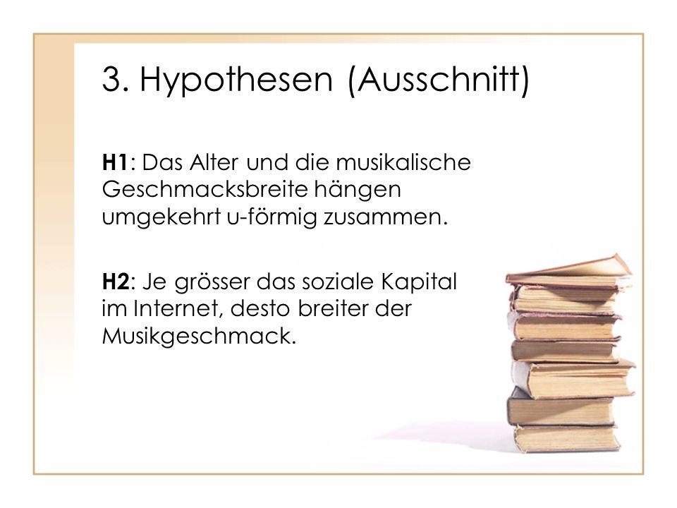 3. Hypothesen (Ausschnitt)
