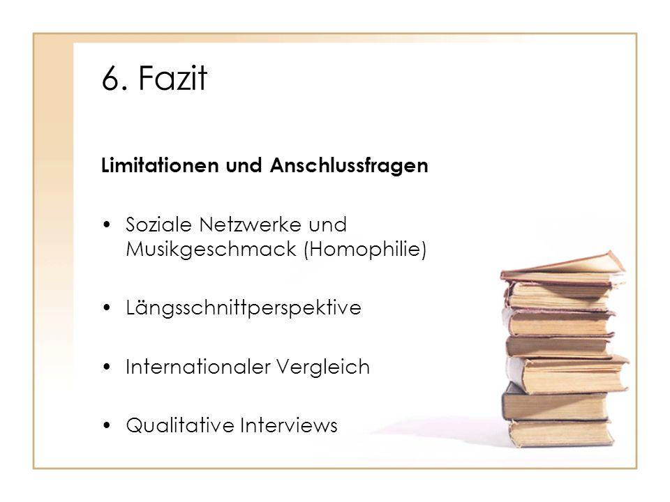 6. Fazit Limitationen und Anschlussfragen