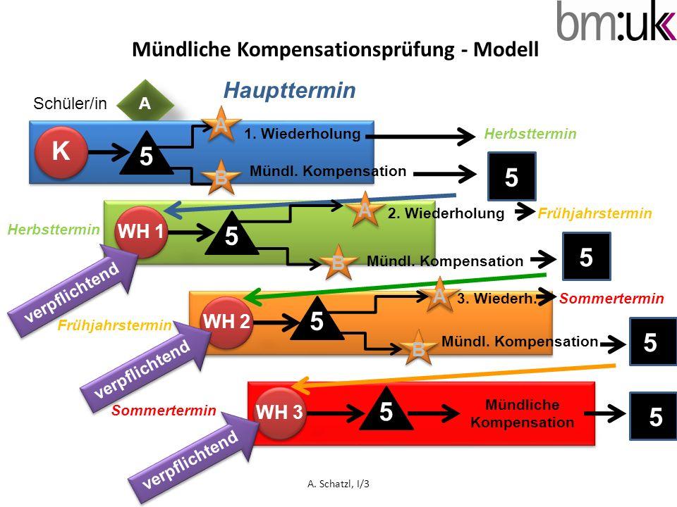 Mündliche Kompensationsprüfung - Modell