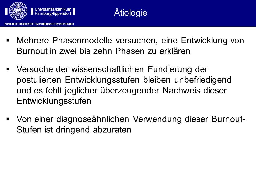 Ätiologie Klinik und Poliklinik für Psychiatrie und Psychotherapie.