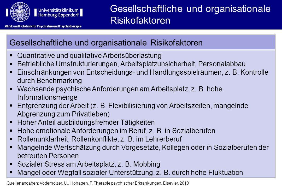 Gesellschaftliche und organisationale Risikofaktoren