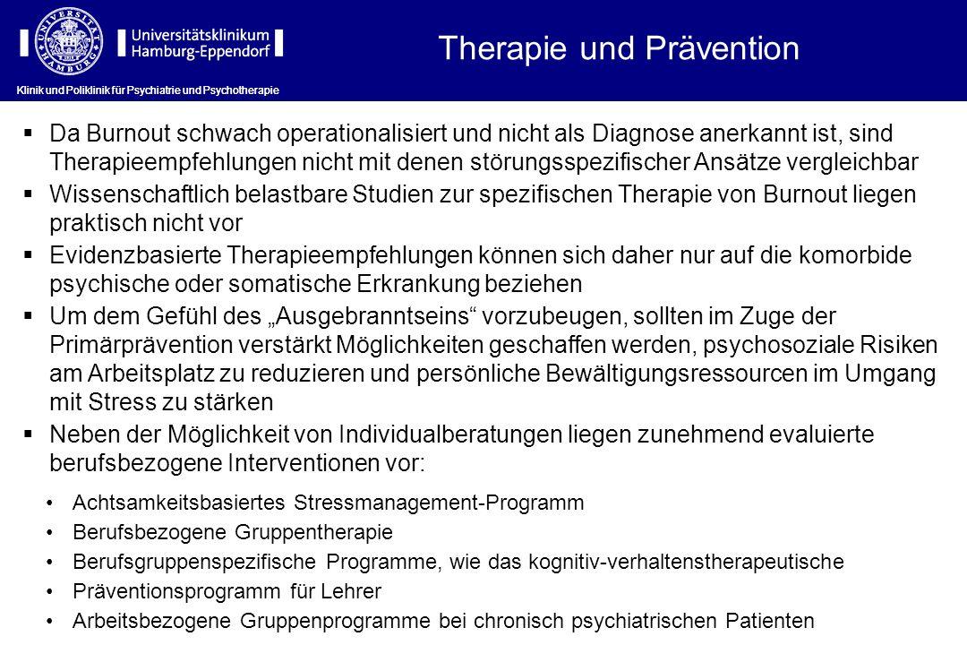 Therapie und Prävention
