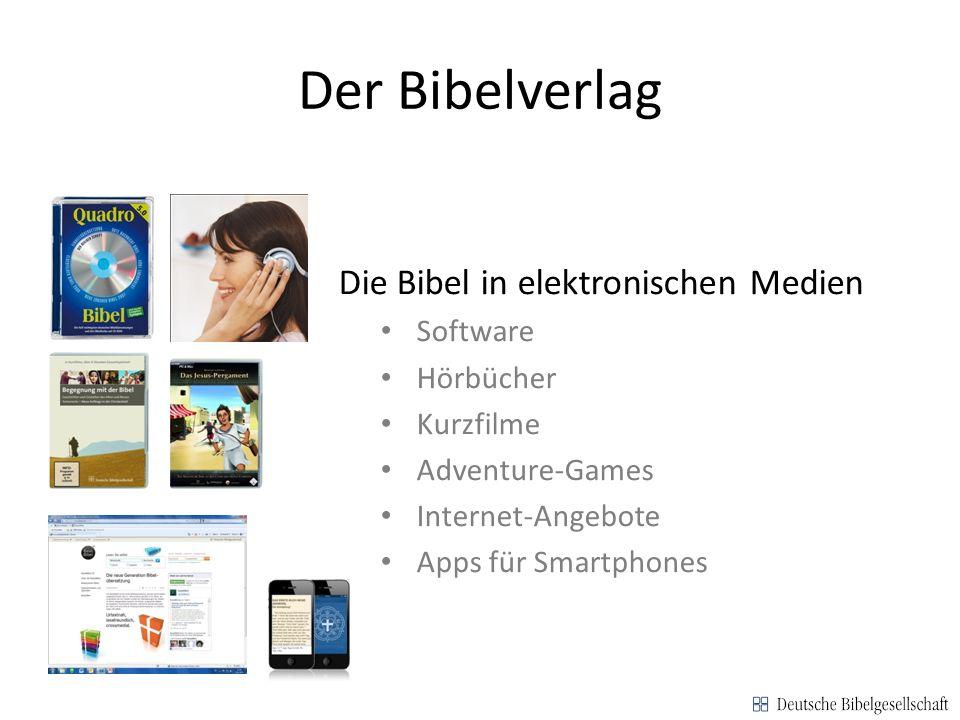 Der Bibelverlag Die Bibel in elektronischen Medien Software Hörbücher