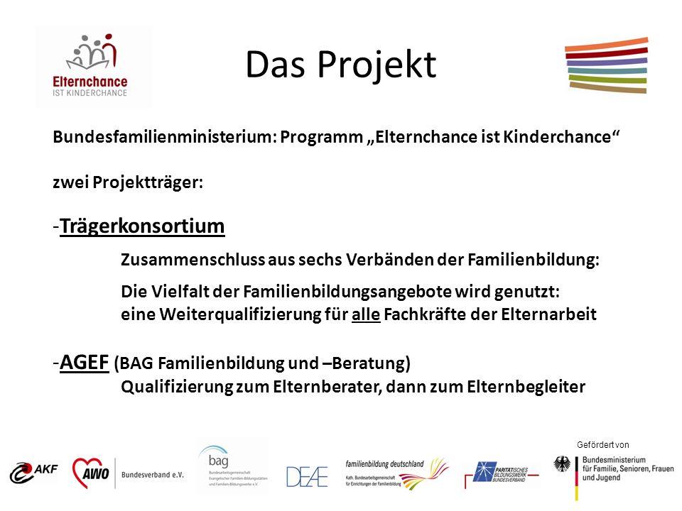 Das Projekt Trägerkonsortium AGEF (BAG Familienbildung und –Beratung)