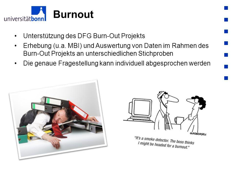 Burnout Unterstützung des DFG Burn-Out Projekts
